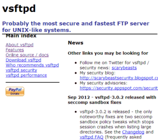 VSFTPD でエラーが発生する。 Error: GnuTLS error -9: A TLS packet with unexpected length was received.
