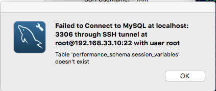 MySQL table performance_schema.session_variables doesn't exist