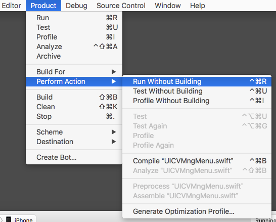 xcode_run_without_build
